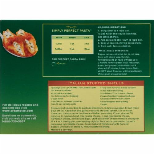 Creamette Jumbo Shells Pasta Perspective: back