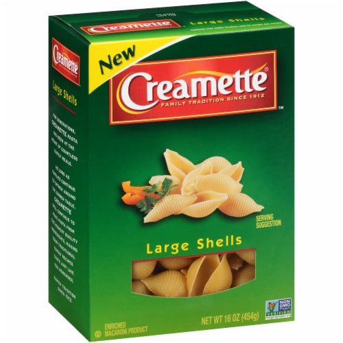 Creamette Large Shells Pasta Perspective: back
