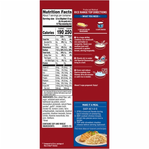 Rice-A-Roni® Chicken Flavor Rice Family Size Perspective: back