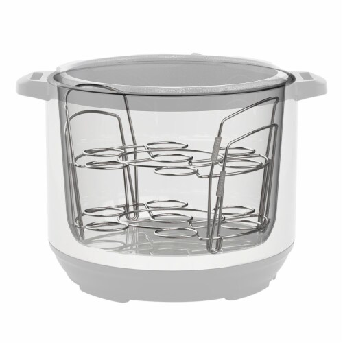 Instant Pot® Stainless Steel Stackable Egg Steamer Racks Perspective: back