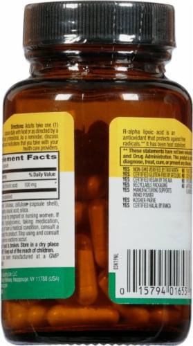 Country Life R-Lipoic Acid 100 mg Vegan Capsules Perspective: back