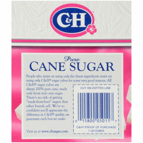 C&H Pure Cane Sugar Cubes Perspective: back