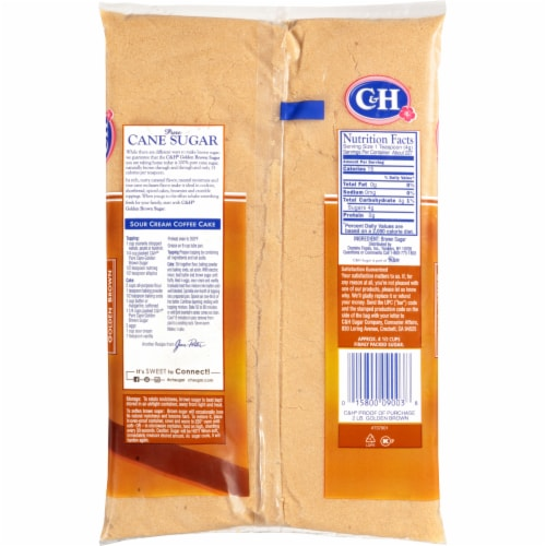 C&H Golden Brown Pure Cane Sugar Perspective: back