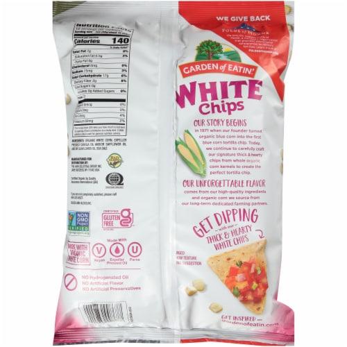 Garden of Eatin'® Organic White Corn Tortilla Chips Perspective: back