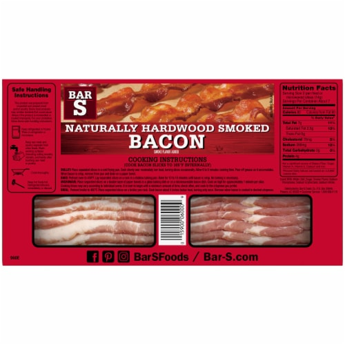 Bar-S Naturally Hardwood Smoked Bacon Perspective: back