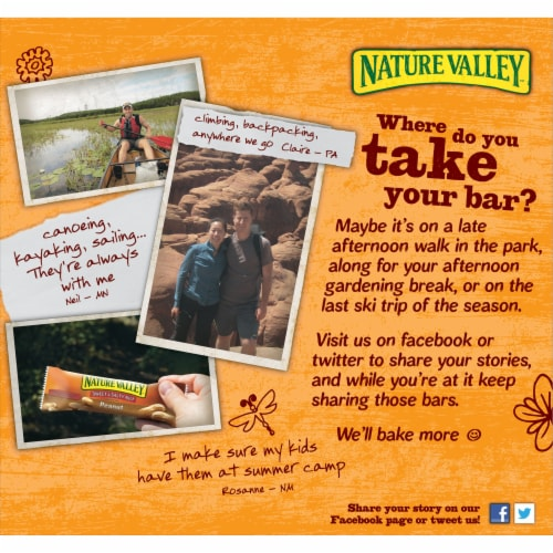 Nature Valley Sweet & Salty Nut Salted Caramel Chocolate Chewy Granola Bars Perspective: back