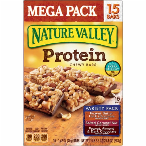 Nature Valley Chewy Protein Bars Family Size Perspective: back