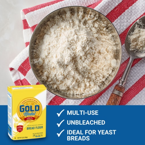 Gold Medal Unbleached Bread Flour Perspective: back