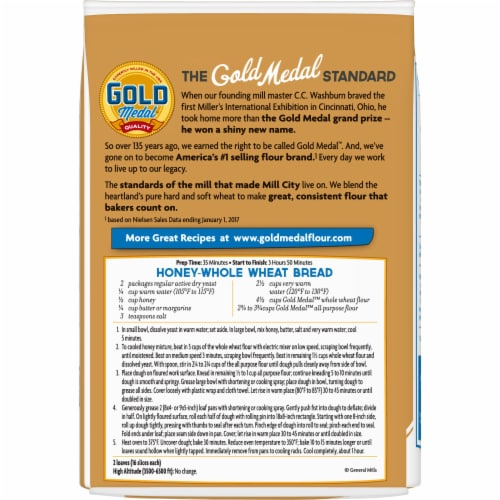 Gold Medal Whole Wheat Flour Perspective: back