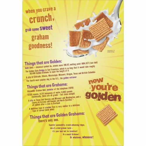 Golden Grahams Cereal Giant Size Perspective: back