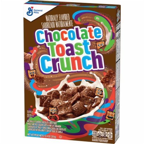 General Mills Chocolate Toast Crunch Cereal Perspective: back