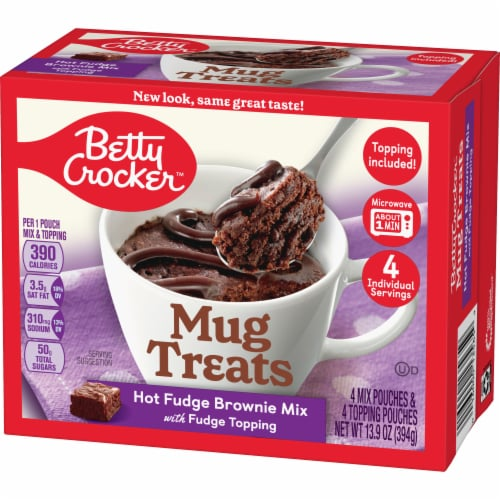Betty Crocker Hot Fudge Brownie Mug Treat Mix Pouches Perspective: back