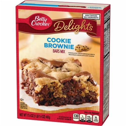 Betty Crocker Delights Cookie Brownie Bars Mix Perspective: back