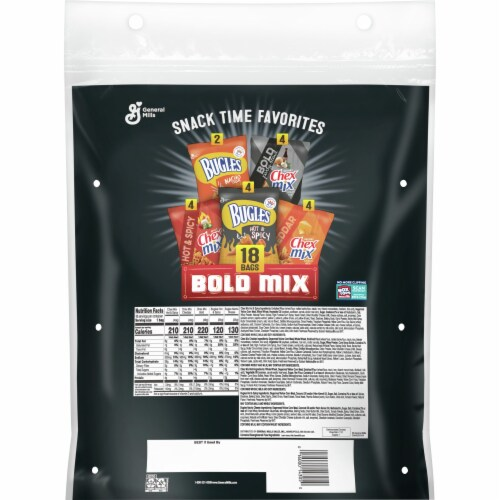 Generals Mills Snack Time Favorites Bold Mix Variety Pack Perspective: back