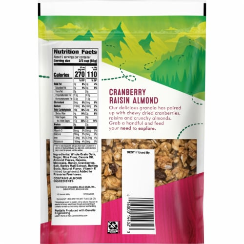 Nature Valley Fruit & Nut Cranberry Raisin Almond Granola Perspective: back
