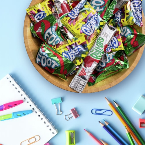 Fruit by the Foot Fruit Roll-Ups Fruit Gushers Variety Pack Perspective: back