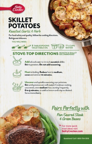 Betty Crocker Roasted Garlic & Herb Crispy Skillet Potatoes Perspective: back