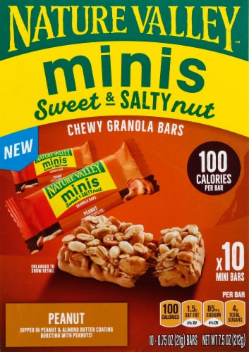 Nature Valley Sweet & Salty Peanut and Almond Butter Mini Granola Bars Perspective: back