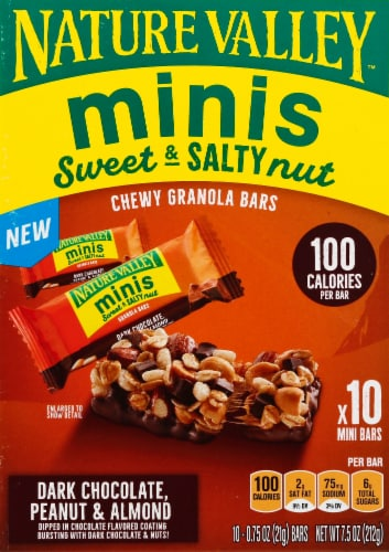 Nature Valley Sweet & Salty Dark Chocolate Peanut and Almond Mini Granola Bars Perspective: back