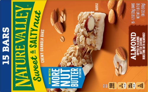 Nature Valley Sweet & Salty Nut Almond Chewy Granola Bars Family Pack Perspective: back