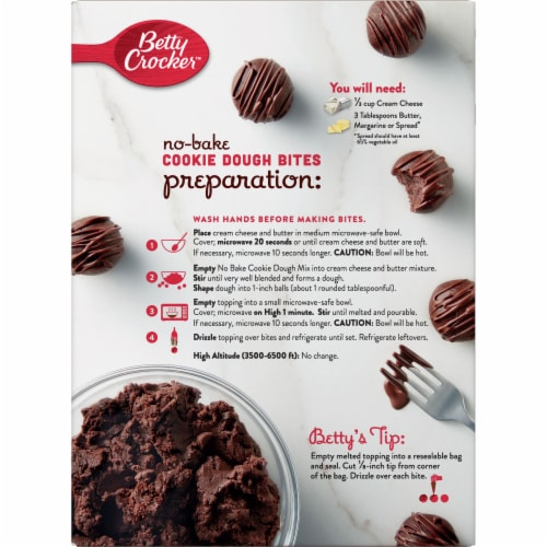 Betty Crocker No-Bake Chocolate Brownie Cookie Dough Bites Perspective: back