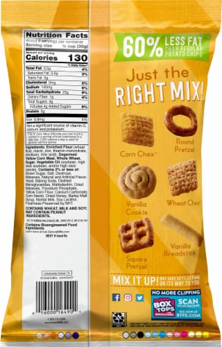 Chex Mix Sweet & Salty Honey Nut Snack Mix Perspective: back
