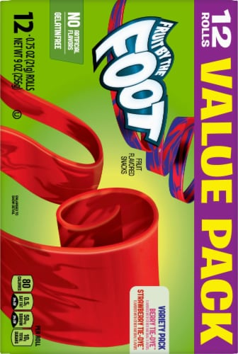 Fruit by the Foot Fruit-Flavored Snacks Variety Pack Perspective: back