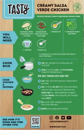 Tasty™ Creamy Salsa Verde Chicken Dinner Kit Perspective: back