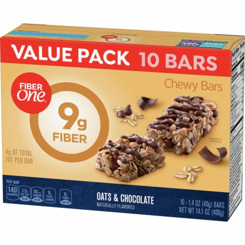 Fiber One Oats & Chocolate Chewy Bars Value Pack Perspective: back
