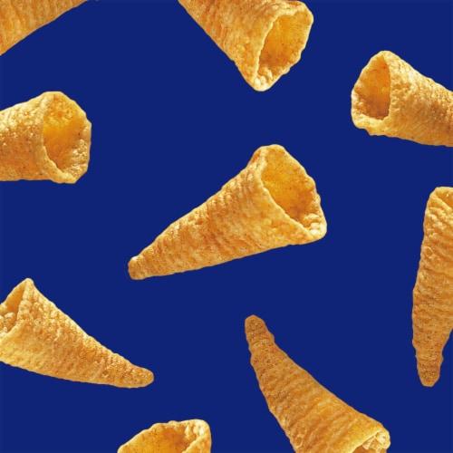 Bugles Nacho Cheese Flavor Crispy Corn Snacks Perspective: back