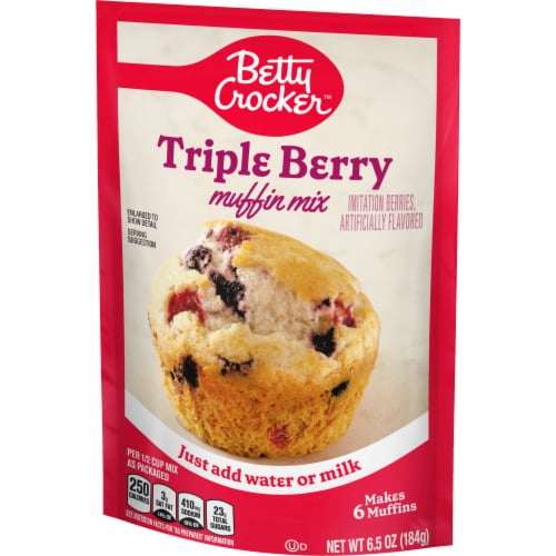 Betty Crocker Triple Berry Muffin Mix Perspective: back
