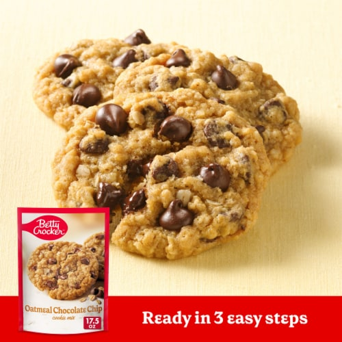 Betty Crocker Oatmeal Chocolate Chip Cookie Mix Perspective: back
