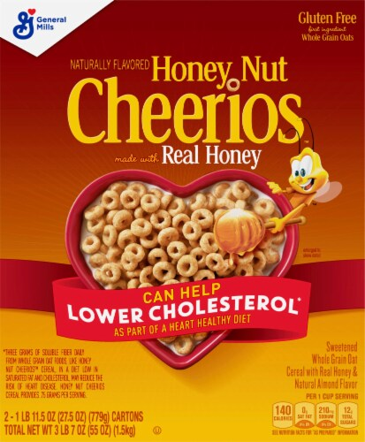 Honey Nut Cheerios™ Cereal Twin Pack Perspective: back