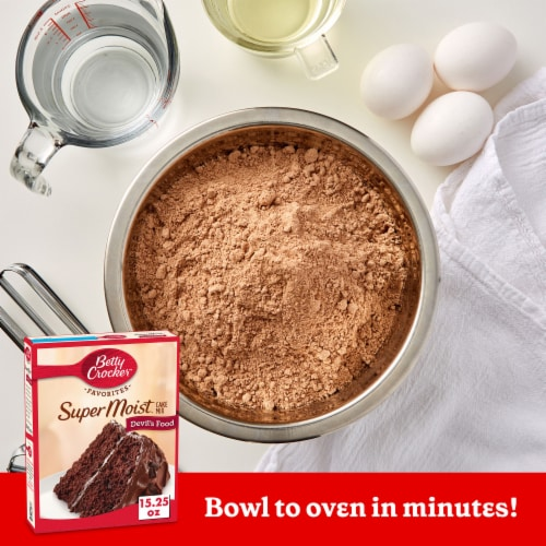 Betty Crocker Super Moist Devil's Food Cake Mix Perspective: back