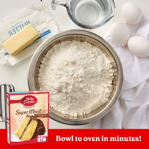 Betty Crocker Super Moist Butter Recipe Yellow Cake Mix Perspective: back