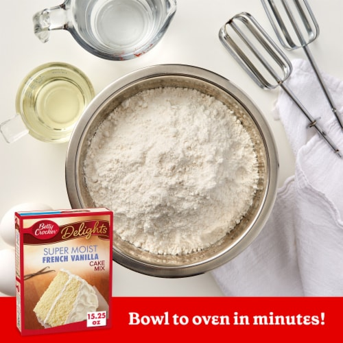 Betty Crocker Delights Super Moist French Vanilla Cake Mix Perspective: back