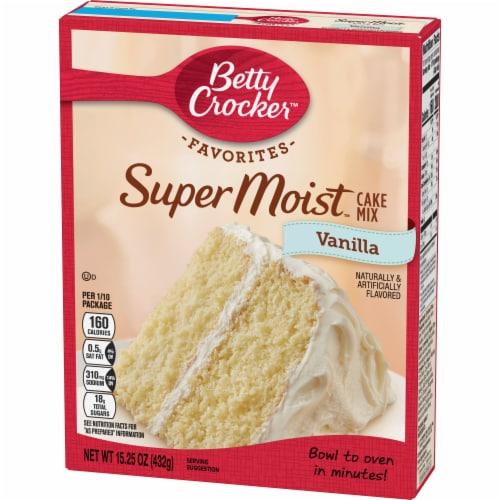 Betty Crocker Favorites Super Moist Vanilla Cake Mix Perspective: back