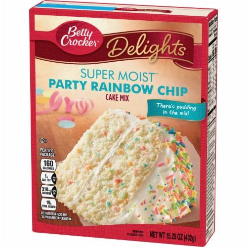 Betty Crocker Super Moist Rainbow Chip Cake Mix Perspective: back
