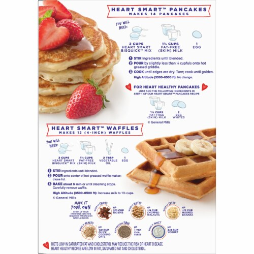 Bisquick Heart Smart Pancake & Baking Mix Perspective: back