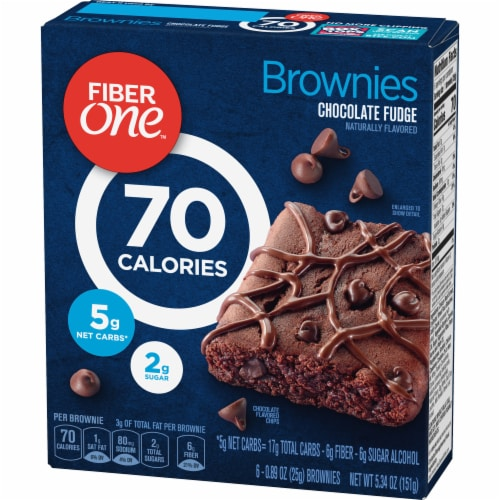 Fiber One 70 Calorie Chocolate Fudge Brownies Perspective: back