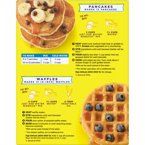 Bisquick Buttermilk Pancake & Waffle Mix Perspective: back