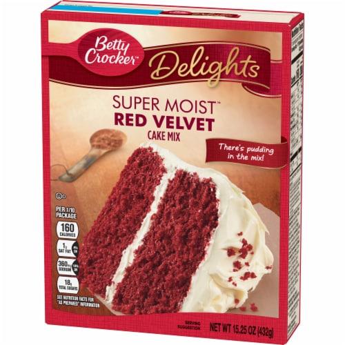 Betty Crocker Delights Super Moist Red Velvet Cake Mix Perspective: back