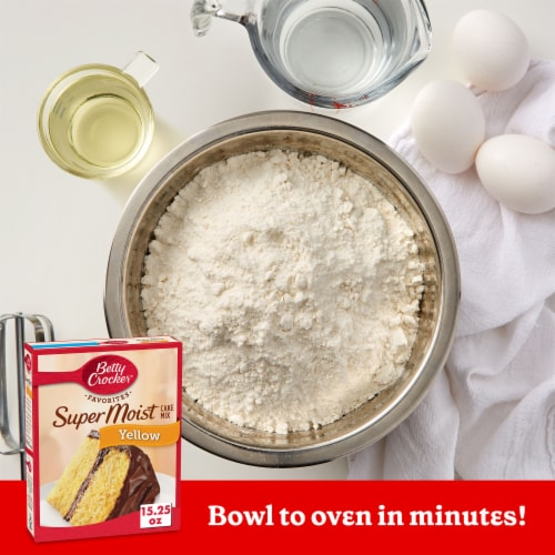 Betty Crocker Super Moist Yellow Cake Mix Perspective: back