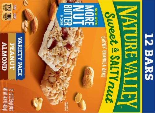 Nature Valley Sweet & Salty Nut Granola Bars Variety Pack Perspective: back