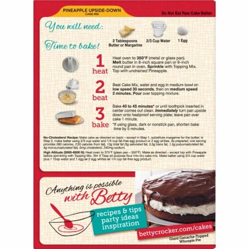 Betty Crocker Pineapple Upside-Down Cake Mix Perspective: back