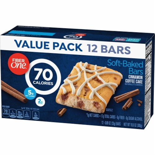 Fiber One 70 Calorie Cinnamon Coffee Cake Soft-Baked Bars Value Pack Perspective: back