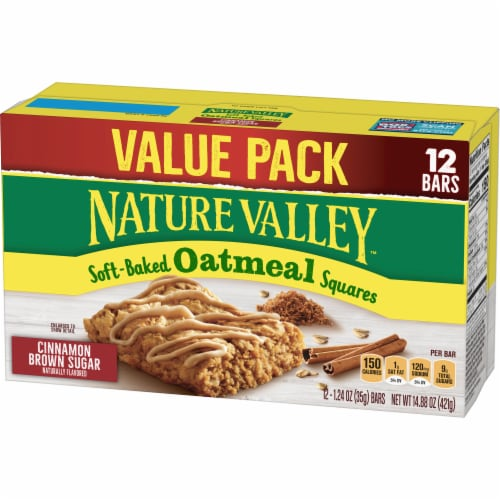 Nature Valley Soft-Baked Cinnamon Brown Sugar Oatmeal Squares Perspective: back
