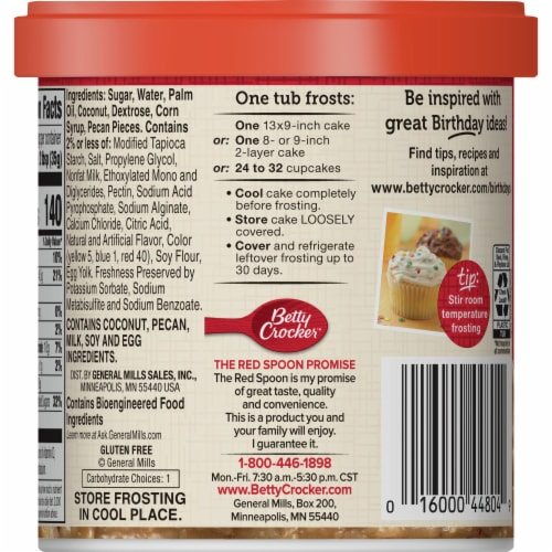 Betty Crocker Rich & Creamy Coconut Pecan Frosting Perspective: back