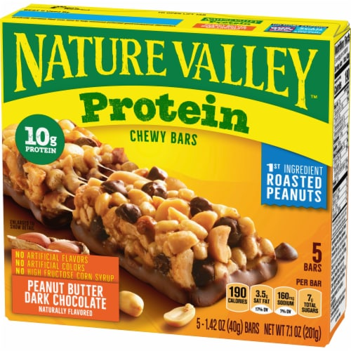 Nature Valley Protein Peanut Butter Dark Chocolate Chewy Bars Perspective: back