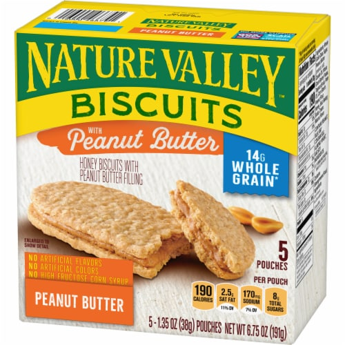 Nature Valley Honey Biscuits with Peanut Butter Filling Perspective: back